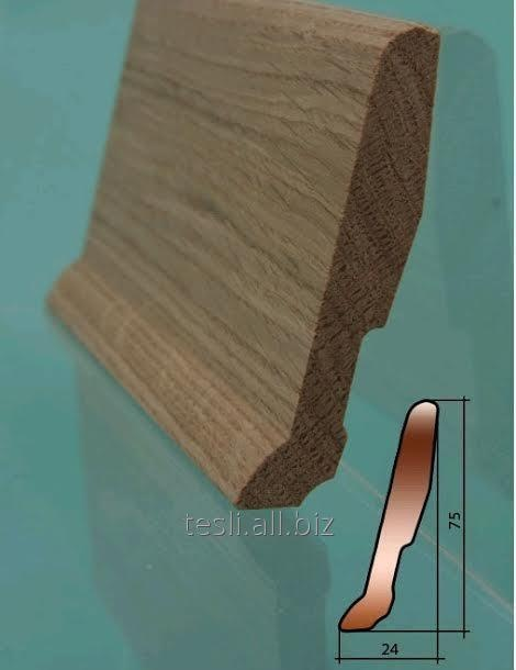 Плинтус деревянный, дуб
