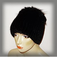 Меховая женская шапка из ондатры