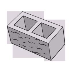 Блок заборный колотый 190 серый