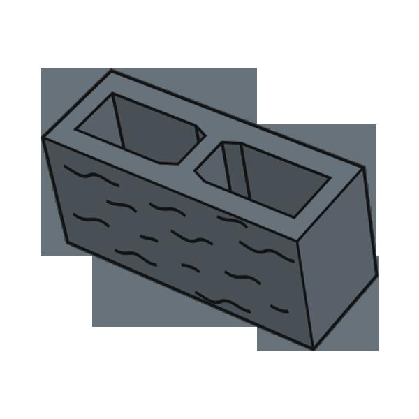 Блок заборный колотый 140 черный