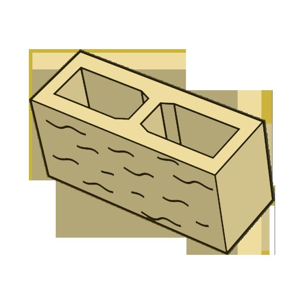 Блок заборный колотый 140 бежевый