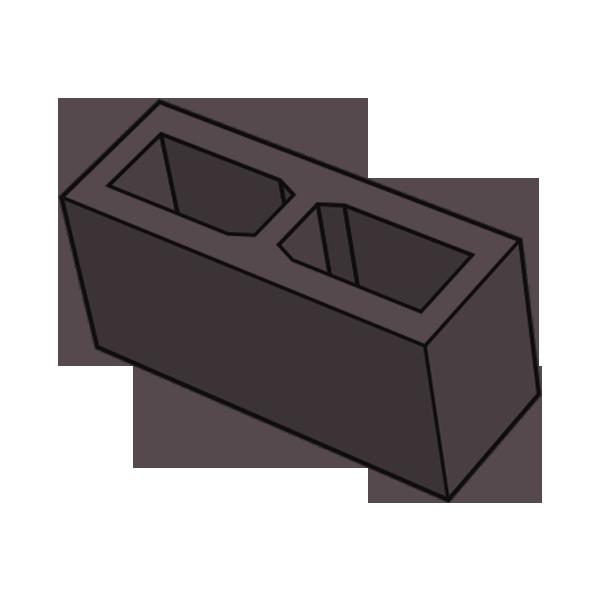 Блок заборный гладкий 140 коричневый