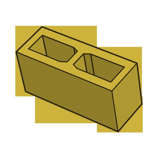 Блок заборный гладкий 140 желтый