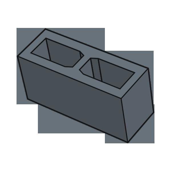 Блок заборный гладкий 140 черный