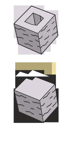 Блок заборный угловой, серый