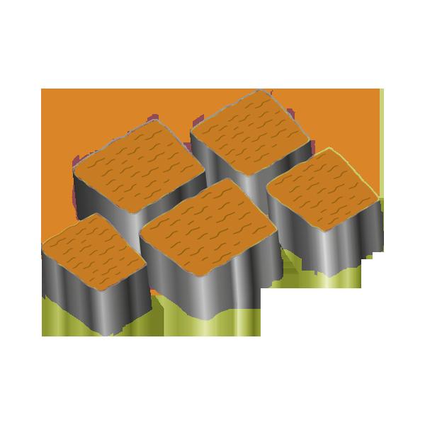 Тротуарная плитка Альпийская 60 оранжевый