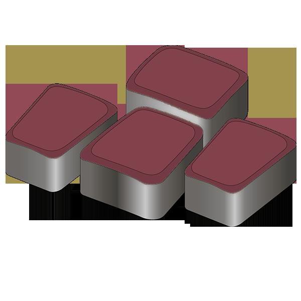 Тротуарная плитка Римский камень 60 красный