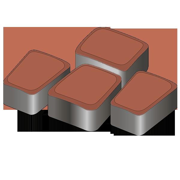 Тротуарная плитка Римский камень 60 терракотовый