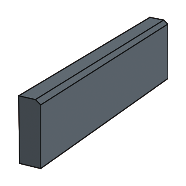 Тротуарный бордюр 500 черный