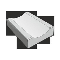 Бетонный отлив серый