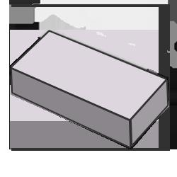Кирпич одинарный серый