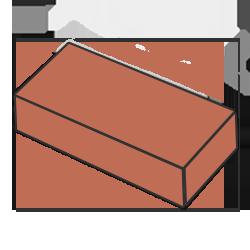 Кирпич одинарный терракотовый
