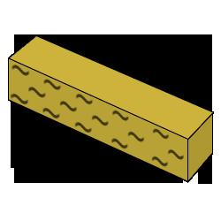 Кирпич колотый желтый