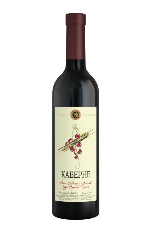 """Вино с """"Кабарне"""" сухое  сортовое  красное 0,75 л"""