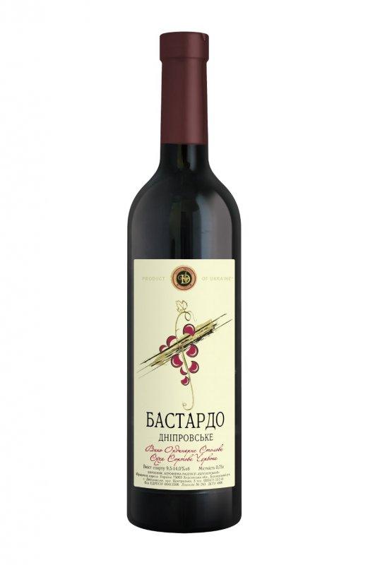 """Вино """"Бастардо  Днепровское"""" сухое сортовое красное 0,75 л."""