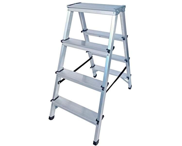 Купить Двухсторонняя алюминиевая стремянка VIRASTAR Step Stool 2x4 ступеней, 125 кг