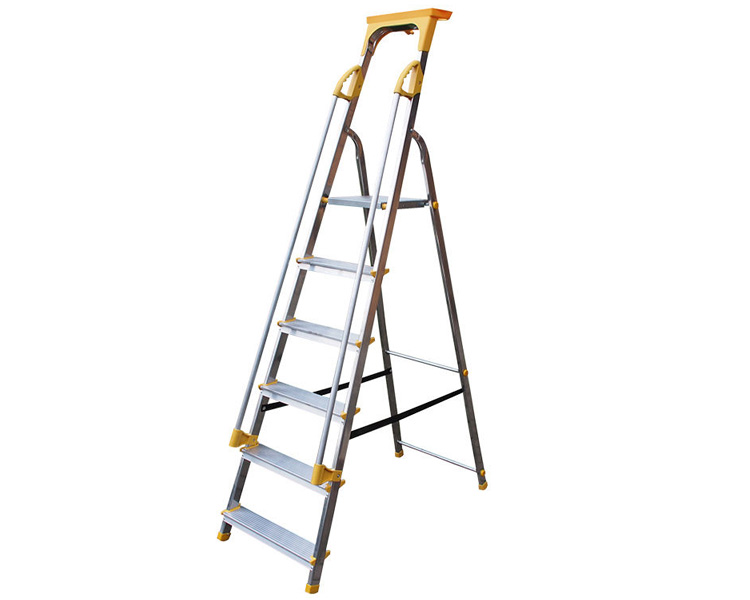 Купить Односторонняя алюминиевая стремянка VIRASTAR ALD з поручнем 6 ступеней