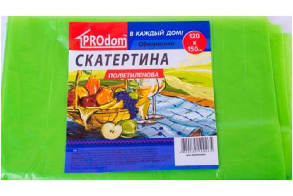 Скатерть одноразовая 120*150 Prodom