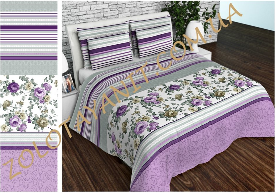 Ткань Бязь Gold Uxt-595-3-Violet