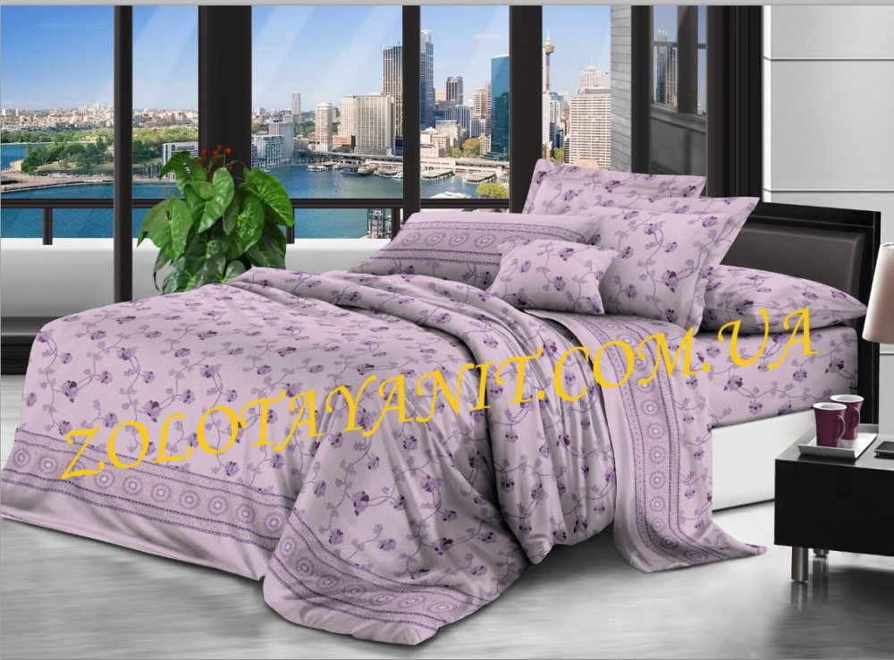Ткань Бязь Gold UXT-632-3-purple