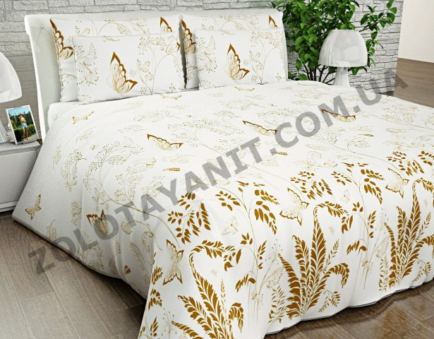 Ткань Бязь Silver для постельного белья N-4574-1-Brown