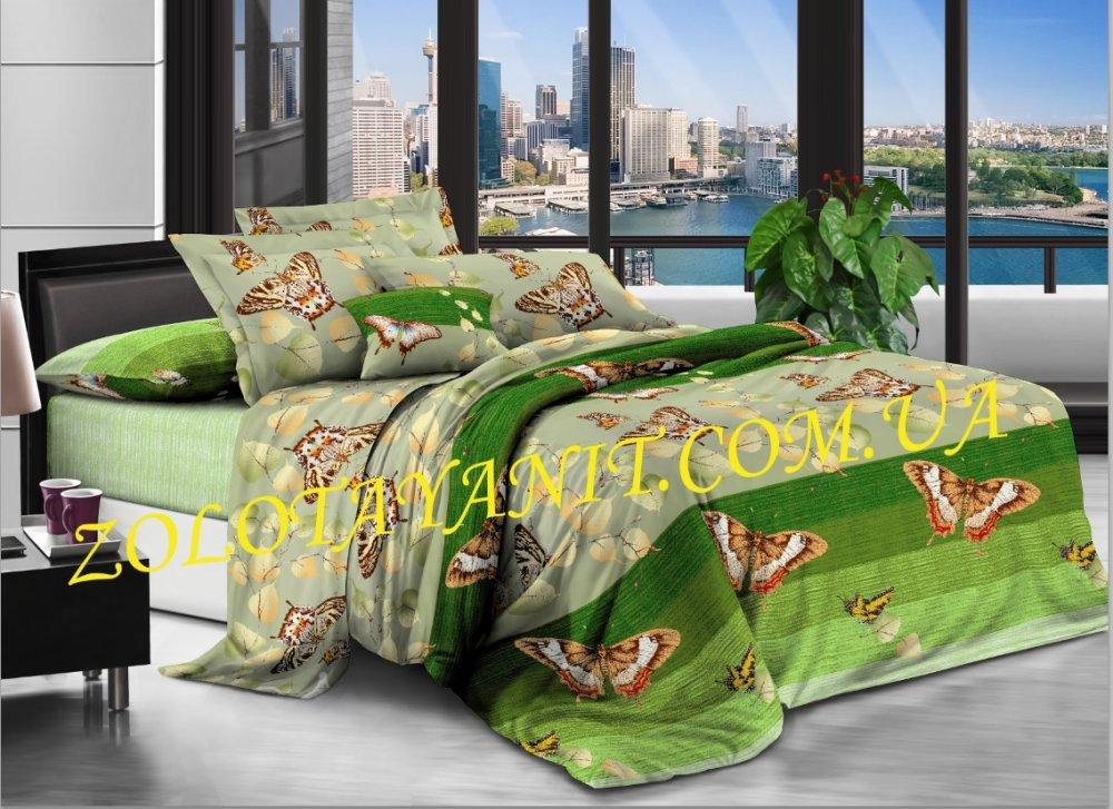 Ткань Бязь Люкс для постельного белья N-6678-1-Green