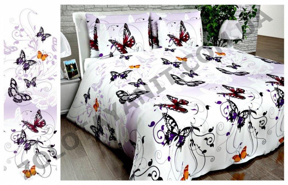 Ткань Бязь Люкс для постельного белья Uxt-399-3-Purple
