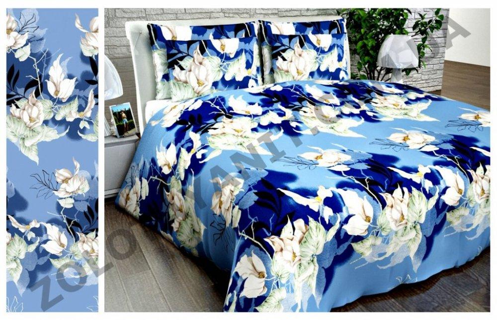 Ткань Бязь Люкс для постельного белья Uxt-410-2-Blue