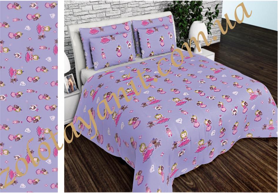 Ткань детская Бязь Gold для постельного белья 2002-1-Violet