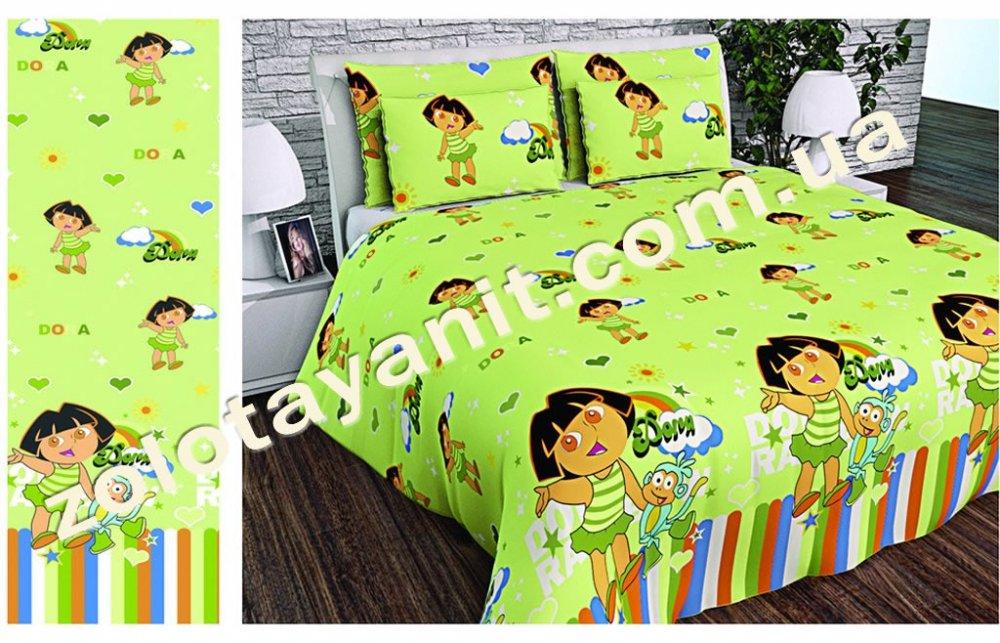 Ткань детская Бязь Gold для постельного белья 20631 Green