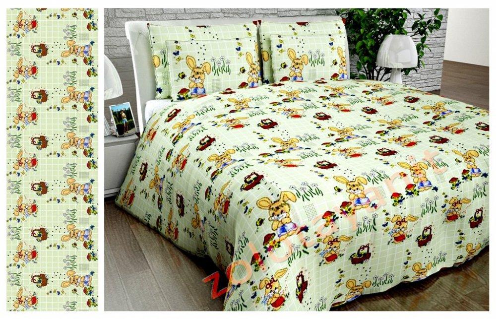 Ткань детская Бязь Gold для постельного белья Uxt2891Green1