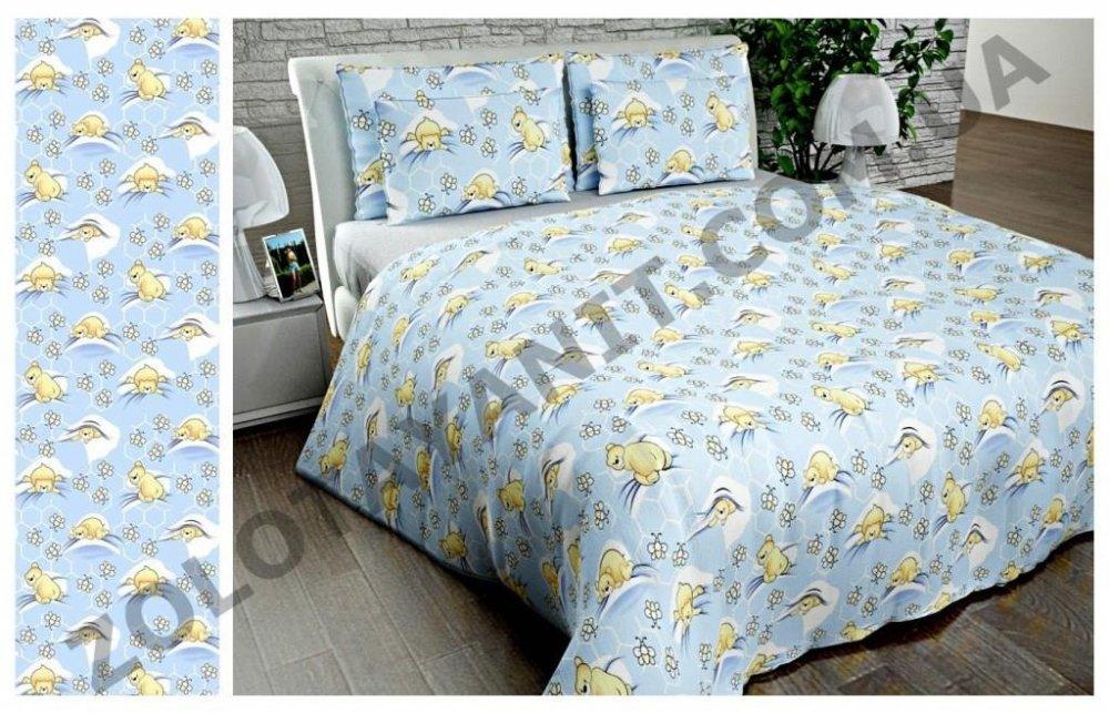 Ткань детская Бязь Gold для постельного белья Uxt-316-1Blue