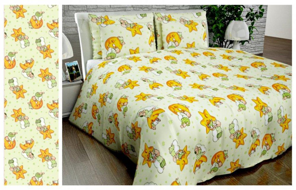 Ткань детская Бязь Gold для постельного белья Uxt-358-1-Gren