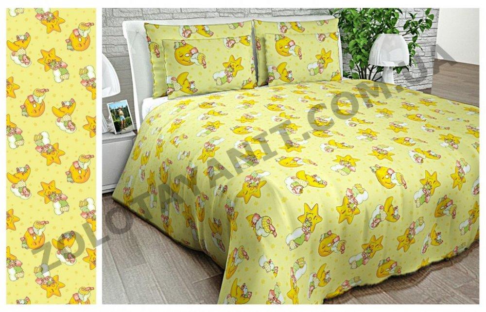 Ткань детская Бязь Gold для постельного белья Uxt-358-3 Yellow