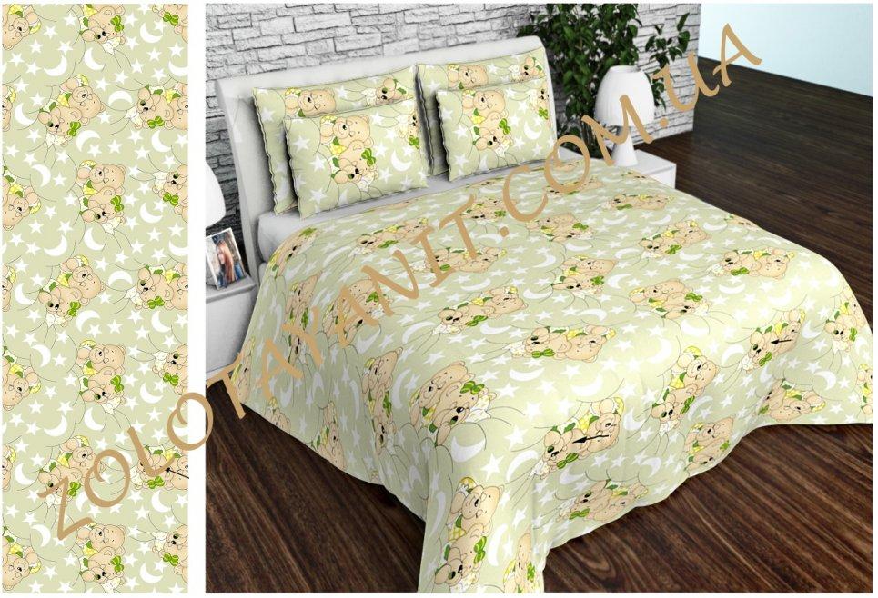 Ткань детская Бязь Gold для постельного белья Uxt-382-3-Green