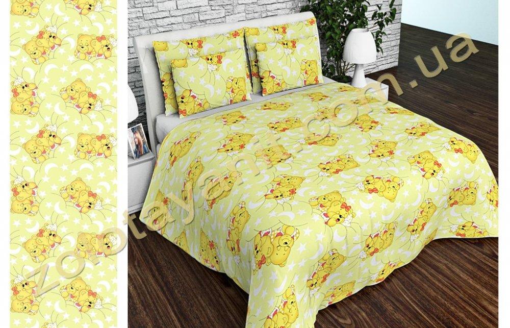 Ткань детская Бязь Gold для постельного белья Uxt-382-4Yellow