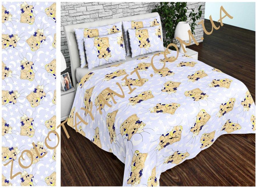Ткань детская Бязь Gold для постельного белья Uxt-382-Blue