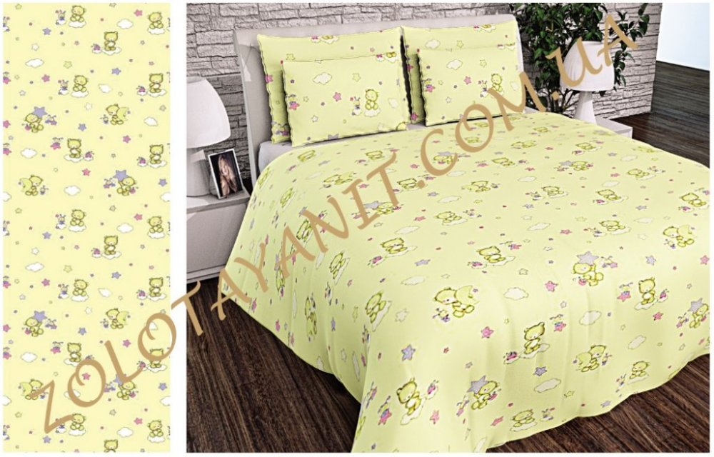 Ткань детская Бязь Gold для постельного белья Uxt-488-1-Cream