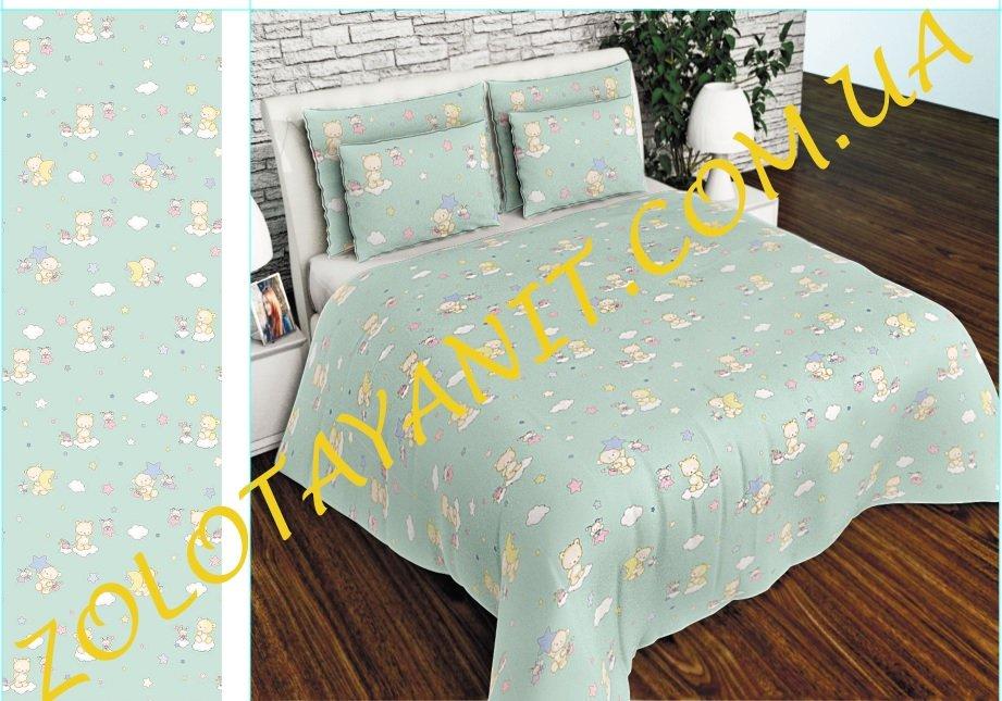 Ткань детская Бязь Gold для постельного белья Uxt-488-1-Green