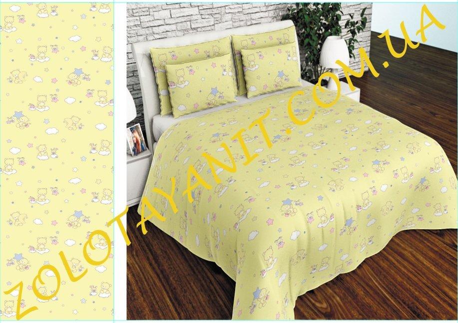 Ткань детская Бязь Gold для постельного белья Uxt-488-4-Yellow
