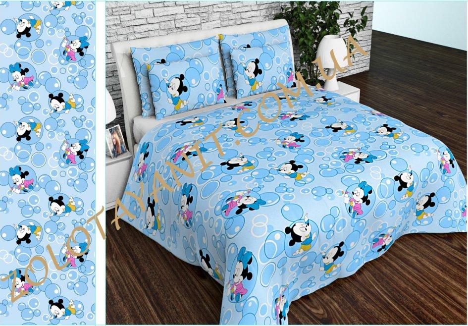 Ткань детская Бязь Gold для постельного белья Uxt-534-Blue