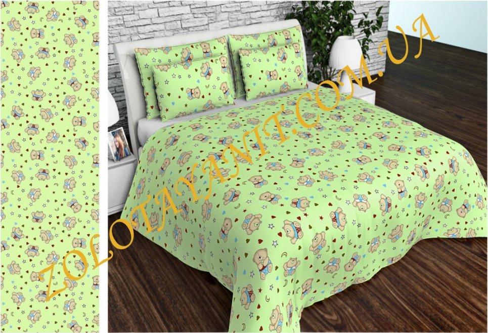 5b6c5166f3cc Ткань детская Бязь Gold для постельного белья Uxt-637-Green купить в ...