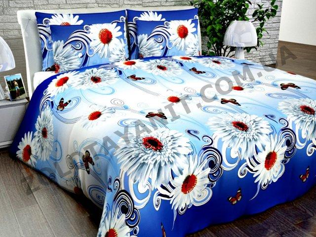 Ткань Поликоттон для постельного белья Uxt-412-2-Blue