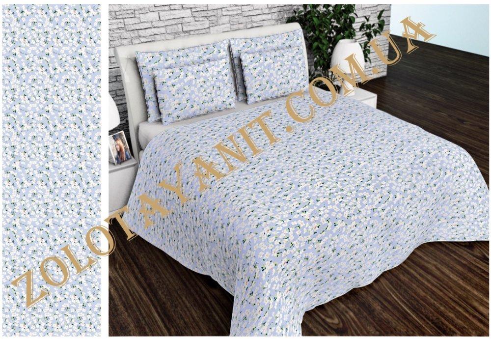 Ткань Китайский полиэстер 75гр для постельных принадлежностей Uxt-609-3-Blue