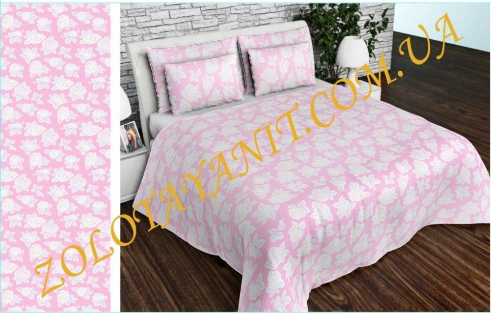 Ткань Тик наперниковый, 100% хлопка 100-0021-Pink