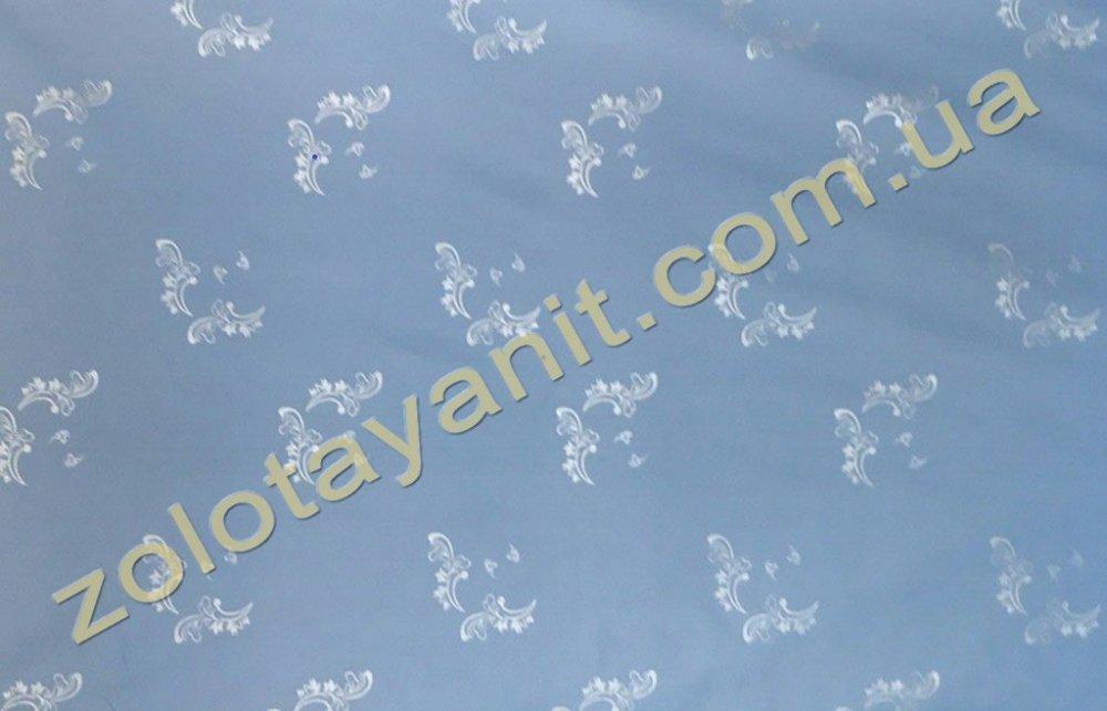 Ткань Тик наперниковый, 100% хлопка 498-Blue