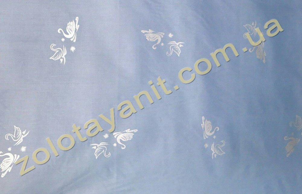 Ткань Тик наперниковый, 100% хлопка 709-Blue