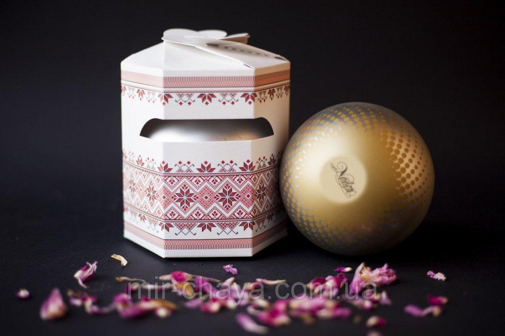 Купить Подарочный зеленый чай Вышиванка ( Весенний цветок) , 100г.