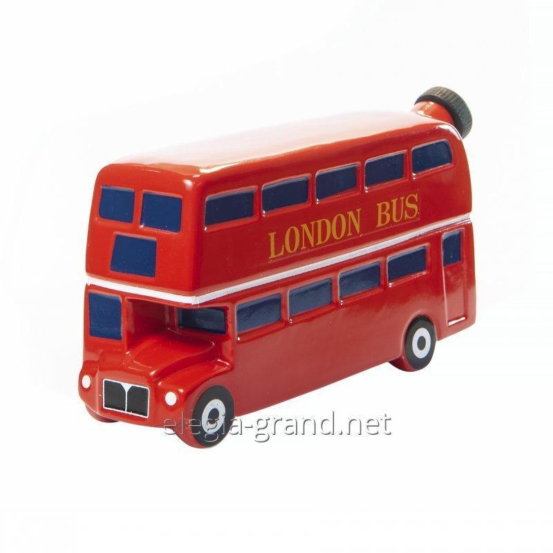 "Souvenir keramiske flasken ""London Bus"""