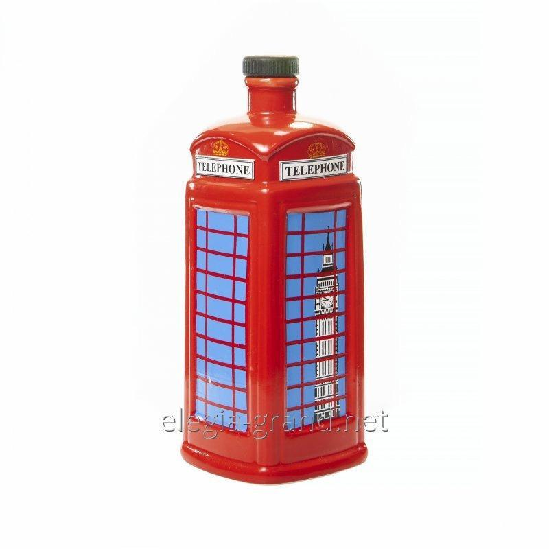 "Souvenir ceramic bottle of ""Phone Booth"""